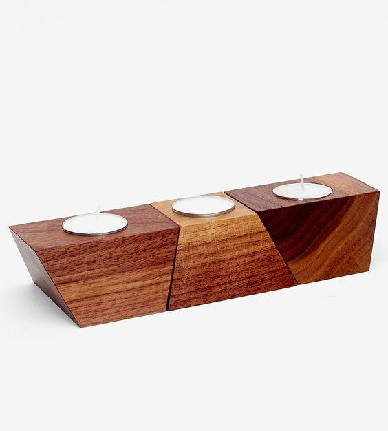 đế gỗ để nến