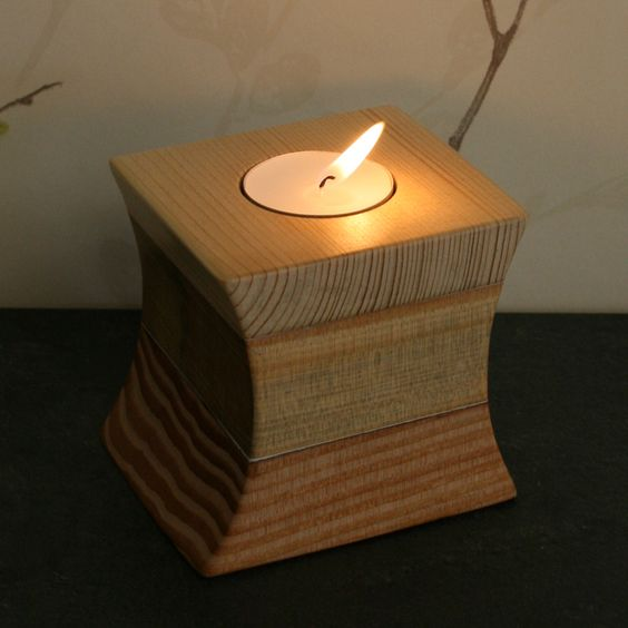 đế nến bằng gỗ