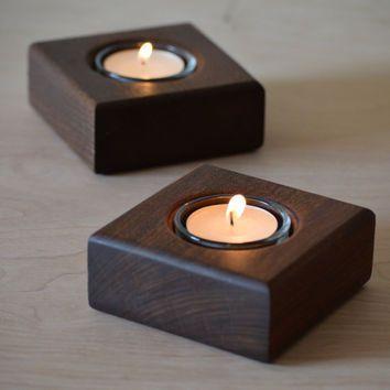 chân đèn cầy bằng gỗ