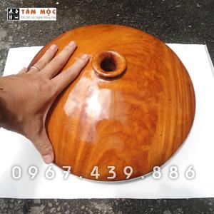Bình phú quý gỗ cà te (gõ đỏ)