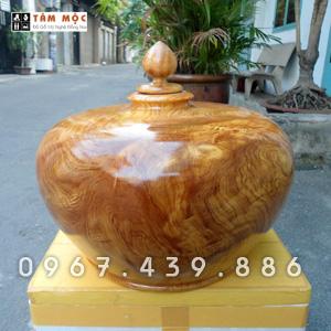 Bình phú quý bằng gỗ pơ mu