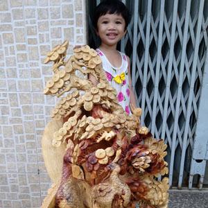 Tượng Phu Thê Viên Mãn gỗ hương