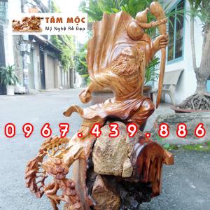 Tượng Bồ Đề Đạt Ma gỗ hương