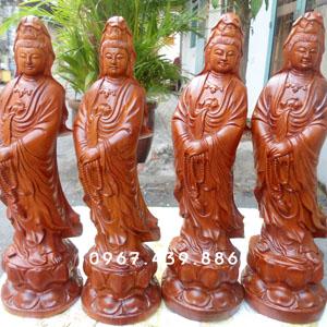 Phật Bà Quan Âm bằng gỗ hương