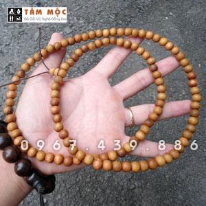 Tràng hạt 108 hạt gỗ xá xị