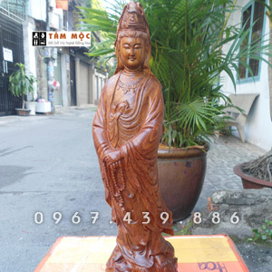 Tượng gỗ Phật Quan Âm Bồ Tát gỗ hương