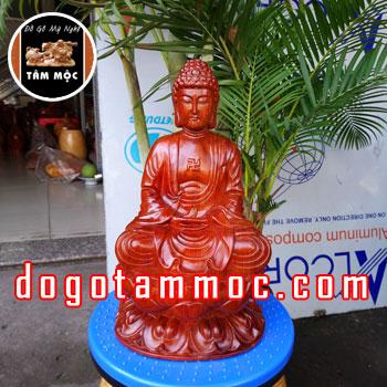 Tượng Phật A Di Đà bằng gỗ hương