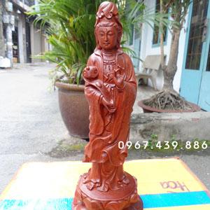 Tượng gỗ Phật Quan Âm gỗ hương