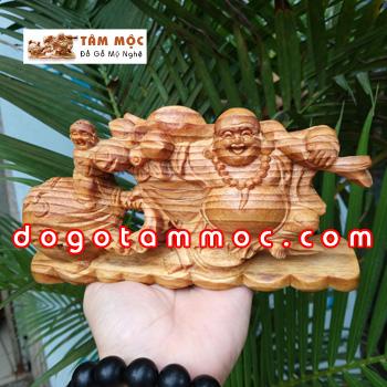 Tượng Phật Di Lặc để xe ô tô gỗ huyết long