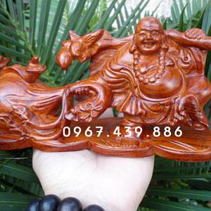 Tượng Phật Di Lặc để xe ô tô gỗ hương