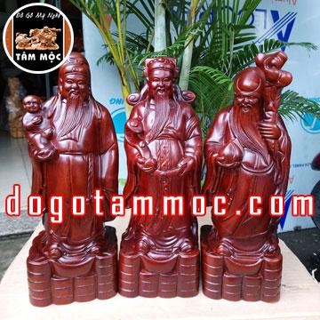 Tượng Tam Đa (Phúc Lộc Thọ) gỗ hương Việt đẹp