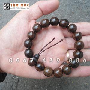 Vòng đeo tay gỗ mun hoa