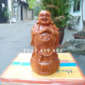 Tượng Phật Di Lặc chúc phúc gỗ hương