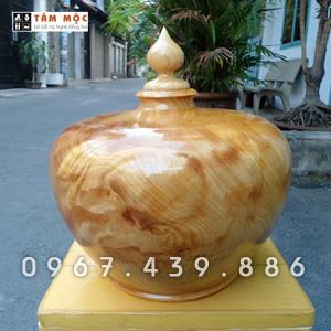 Bình gỗ kiểu bằng gỗ pơ mu