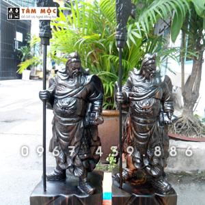 Tượng gỗ Quan Công - Quan Vân Trương gỗ mun
