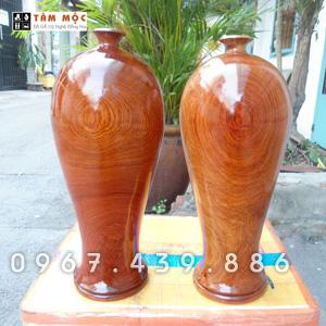 Cặp chum bằng gỗ hương