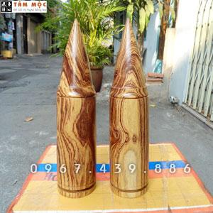Cặp đạn gỗ cẩm lai