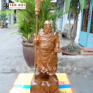 Tượng gỗ Quan Công - Quan Thánh bằng gỗ bách xanh