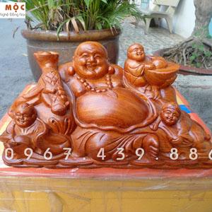 Tượng Phật Di Lặc Tam Phúc gỗ hương