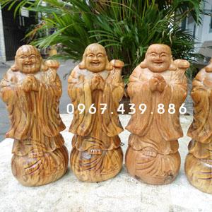 Tượng Phật Di Lặc chúc phúc gỗ huyết long
