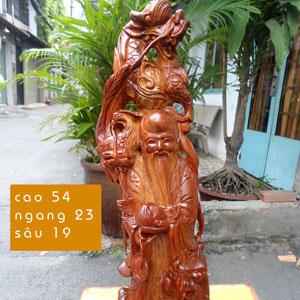 Tượng Ông Thọ tứ linh bằng gỗ hương