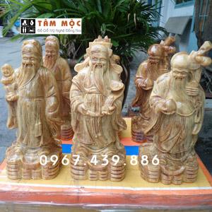 Phúc Lộc Thọ - Tam Đa bằng gỗ huyết long