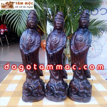 Tượng Phật Bà Quan Âm gỗ mun