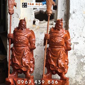 Tượng Quan Công gỗ hương cao 60cm