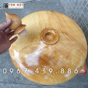 Bình gỗ trang trí phòng khách gỗ pơ mu