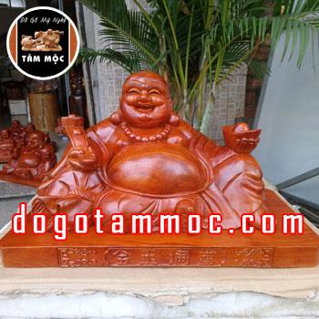 Tượng Phật Di Lặc Kim Ngọc Mãn Đường gỗ hương