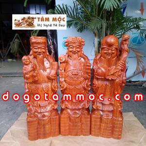Tượng Tam Đa gỗ hương cao 60cm