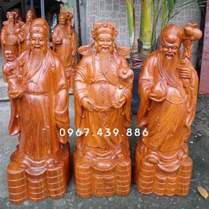 Tượng Phúc Lộc Thọ - Tam Đa bằng gỗ hương