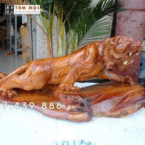 Bán tượng hổ bằng gỗ rẻ đẹp
