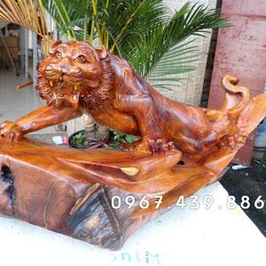 Bán tượng hổ bằng gỗ đẹp