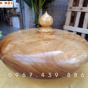 Bình gỗ trang trí gỗ pơ mu