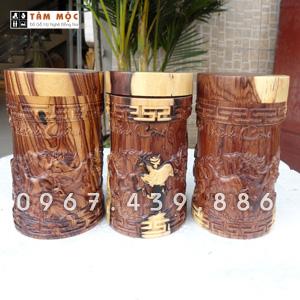 Hộp đựng trà bằng gỗ cẩm lai