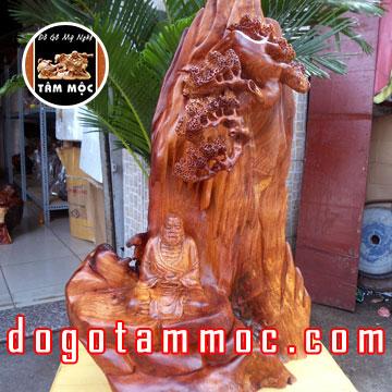 Tượng Đạt Ma Sư Tổ ngồi thiền gỗ hương Việt