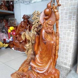 Tượng Đạt Ma Sư Tổ giáo hóa gỗ hương Việt