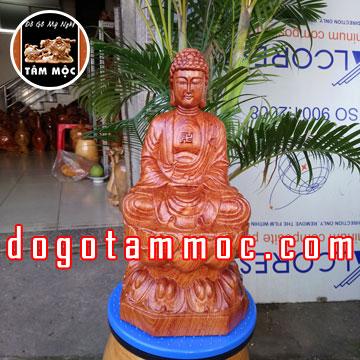 tượng gỗ Phật A Di Đà bằng gỗ hương