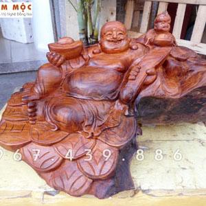 Tượng Phật Di Lặc Nhất Phúc gỗ hương Việt