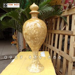 Bình gỗ trang trí bằng gỗ nu nghiến (ngọc nghiến)
