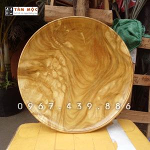 Mâm bồng - Đĩa hoa quả bằng gỗ nu nghiến