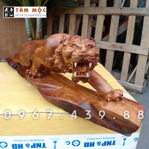 Tượng gỗ mãnh hổ gỗ hương