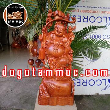 Tượng gỗ Phật Di Lặc ngũ phúc bằng gỗ hương