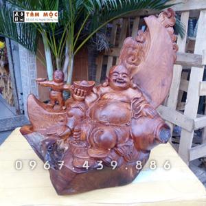 ượng gỗ Phật Di Lặc nhất phúc ngồi trăng gỗ hương Việt