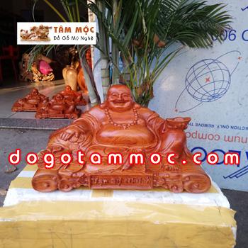 Tượng Phật Di Lặc Vạn Sự Như Ý bằng gỗ hương