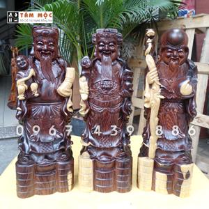 Tượng gỗ Tam Đa gỗ cẩm lai Việt