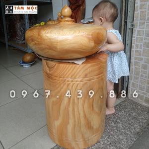 Đôn gỗ kê tượng gỗ du sam