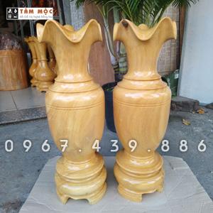 Cặp lục bình (lộc bình) gỗ mít
