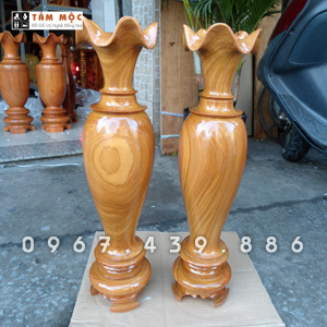 Lục bình kiểu gỗ giáng hương